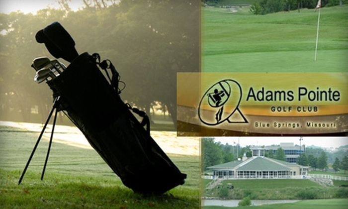 Adams Pointe Golf Club - Blue Springs: $29 for 18 Holes, Cart with GPS, a Bag of Balls, and a Beer at Adams Pointe Golf Club