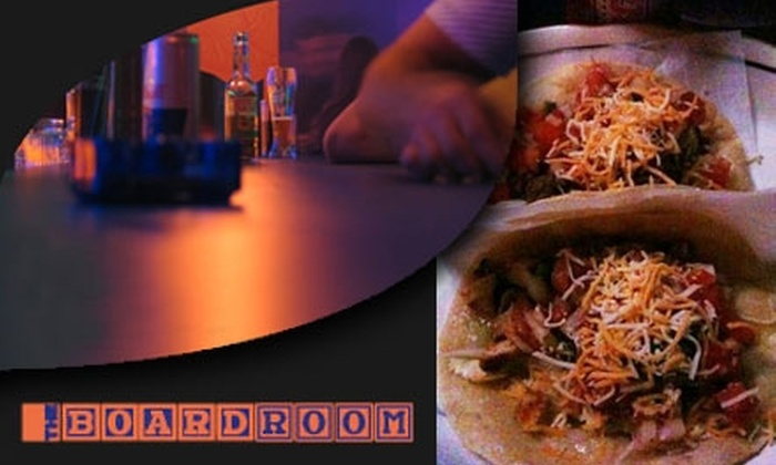The Board Room - North Beach: $10 for $25 Worth of Sports, Inspired Bar Grub, and Brews at The Board Room