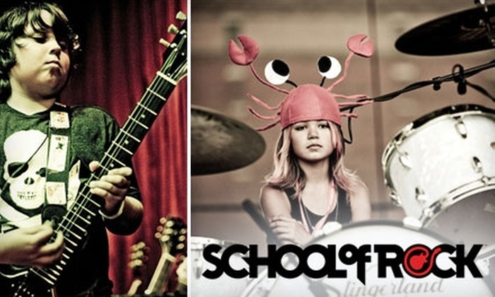 School of Rock - Multiple Locations: $85 for Four Weeks of Membership and Lessons, Extra-Curricular Open Jams, and Four Tickets to a Show at School of Rock ($230 Value)