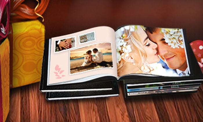 "Printerpix: $9 for an 8""x8"" Personalized Leather-Bound Photo Book from Printerpix ($49.99 Value)"