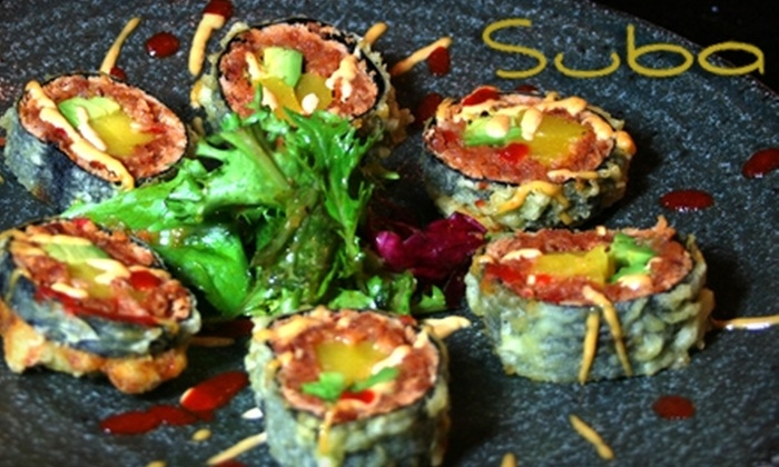 Suba Sushi - Cal Heights/Bixby Knolls/Los Cerritos: $15 for $30 Worth of Japanese-Spanish Fusion Cuisine at Suba Sushi & Tapas Lounge in Long Beach