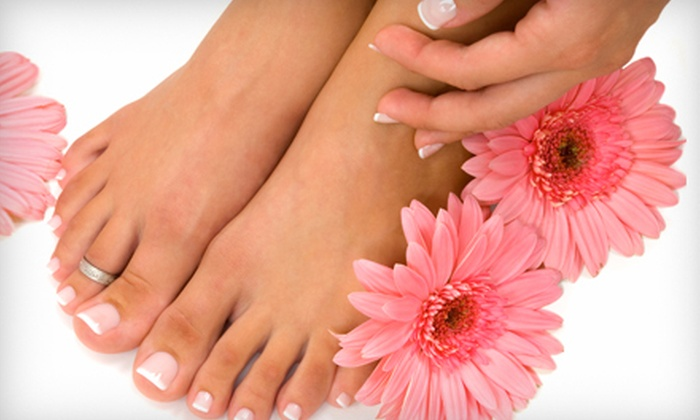 Hair International Salon and Spa - Perry: $29 for a Spa Mani-Pedi at Hair International Salon and Spa ($60 Value)