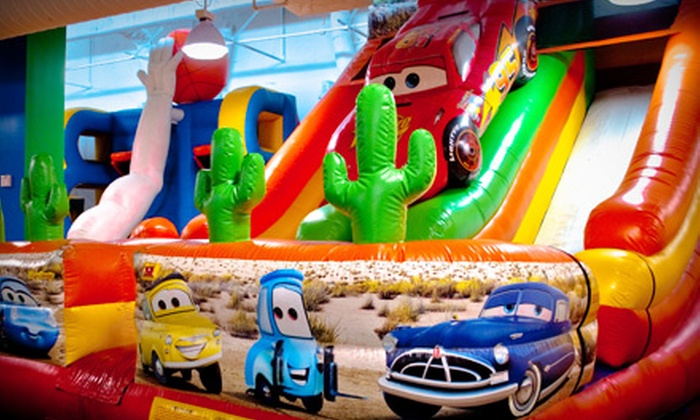 bounzCity - Evergreen: Inflatable Playland Visit with Arcade Tokens for Two or Four at bounzCity