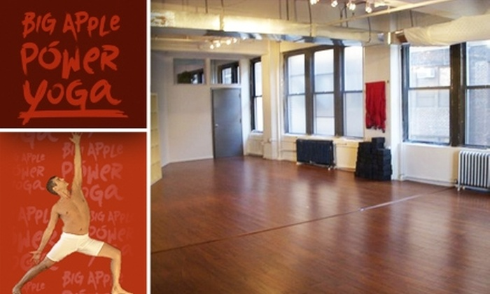 Big Apple Power Yoga - Garment District: $59 for One Month of Unlimited Yoga at Big Apple Power Yoga