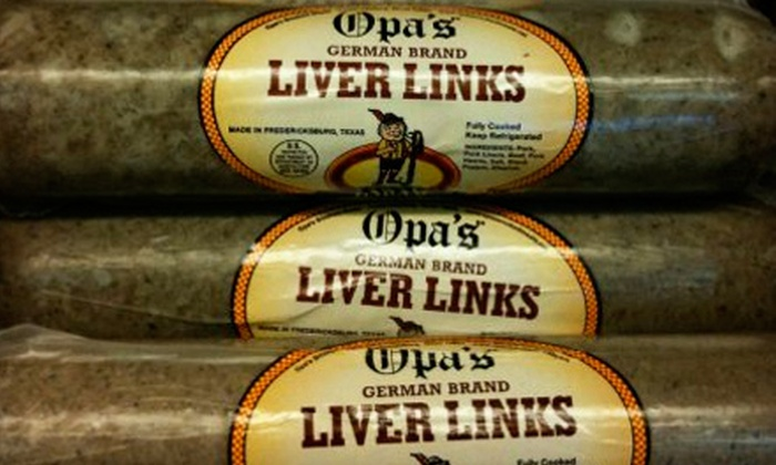 Opa's Smoked Meats - Fredericksburg: $10 for $20 Worth of Deli Meats at Opa's Smoked Meats in Fredericksburg