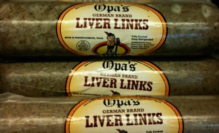 $20 Groupon to Opa's Smoked Meats - Opa's Smoked Meats in Fredericksburg