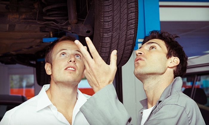 Crossline Tirecraft - Yellowhead Corridor - East: Oil-Change or Oil-Change Package with Inspection and Tire Rotation at Crossline Tirecraft (Up to 74% Off)