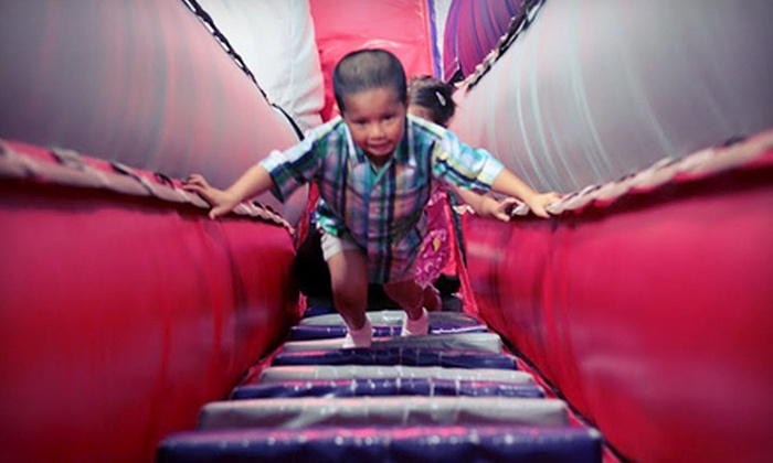 Planet WOW - Century Oaks Business Park: 5, 10, or 15 Inflatable-Playground Visits at Planet Wow (Up to 60% Off)