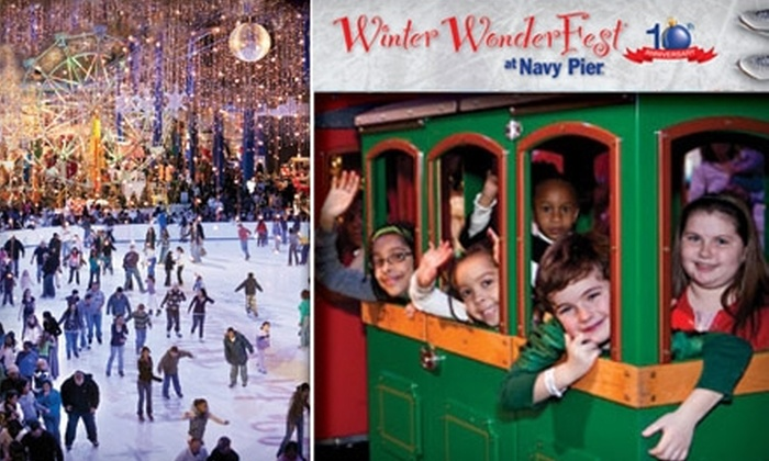 Navy Pier - Near North Side: $9 for Rides, Ice Skating, and More at Winter WonderFest at Navy Pier (Up to $18 Value)