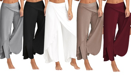 Women's WideLeg Split Harem Pants: One Pair $16 or Two Pairs $27