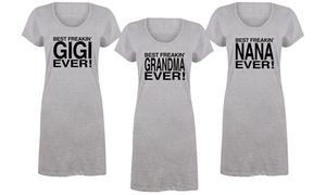 Women's Best Freakin' Grandma Sleep Tees
