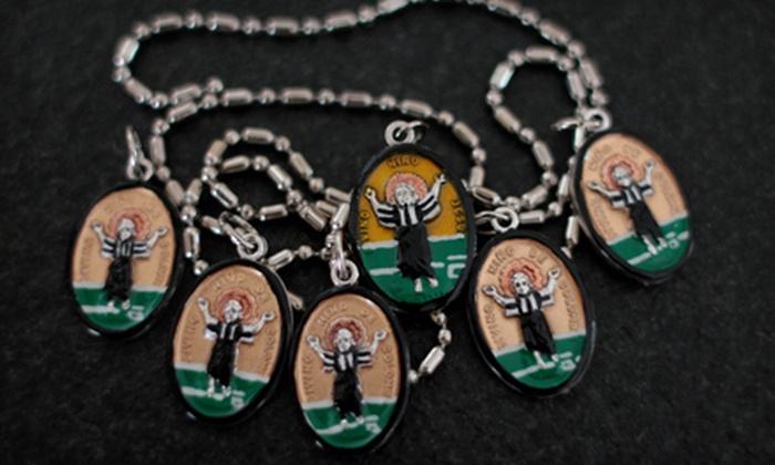 Saints for Sinners: One or Two Imported and Hand-Painted Saint Medallions from Saints for Sinners
