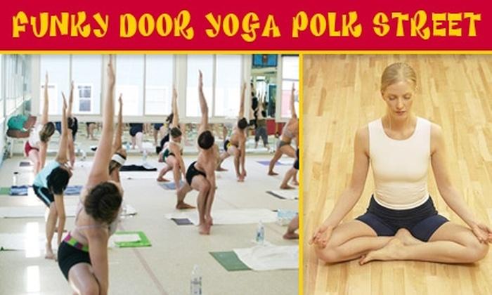 Funky Door Yoga Polk Street - Civic Center: $25 for 25 Classes at Funky Door Yoga Polk Street