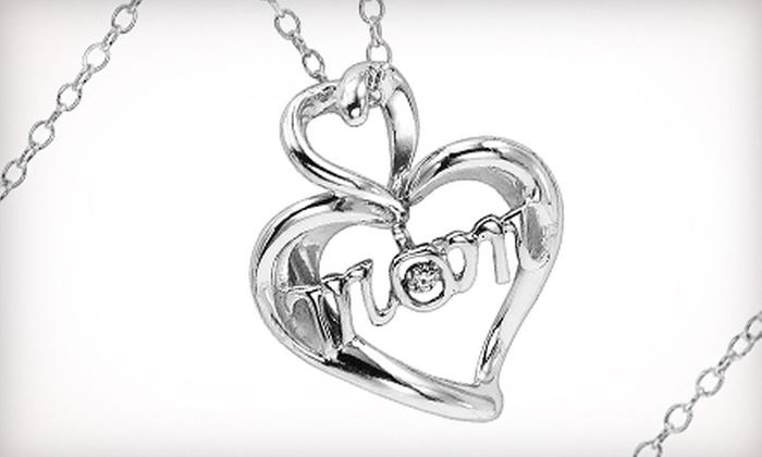 Gemsone - West St. Paul: $75 for a Mother's Day Diamond Heart Pendant Necklace ($179.95 Value)
