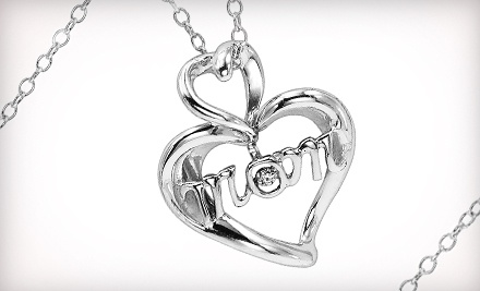 Good for a Mother's Day Diamond Heart Pendant Necklace (a $180 value) - Gemsone in West Saint Paul