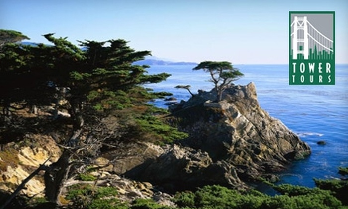 Tower Tours - Russian Hill: $71 for Two Adult Passes for Bus Tour of Monterey and Carmel from Tower Tours ($142 Value)