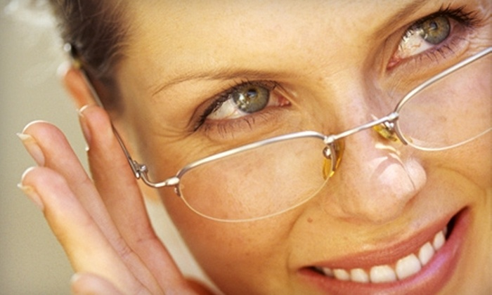 Eyesite Optometry - Multiple Locations: $99 for a Comprehensive Eye Exam and Complete Pair of Titanium Glasses at Eyesite Optometry ($387 Value)