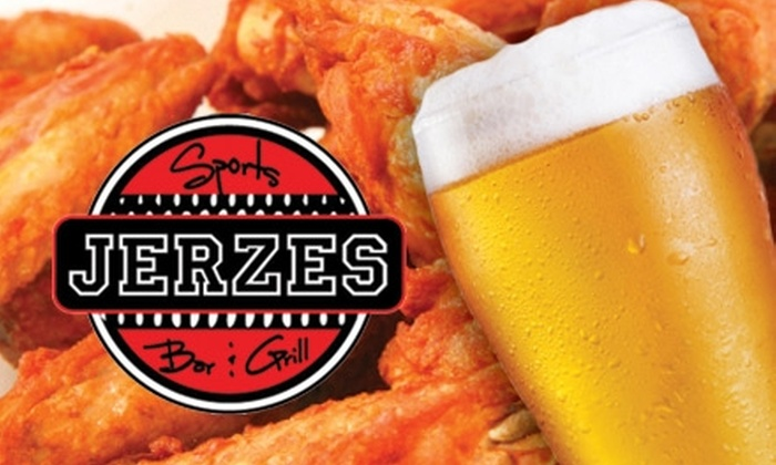 Jerzes Sports Bar and Grill - Papillion: $10 for $20 Worth of Grill Fare and Thirst Quenchers at Jerzes Sports Bar and Grill