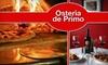 Osteria da Primo - Burien: $15 for $35 Worth of Italian Fare at Osteria da Primo