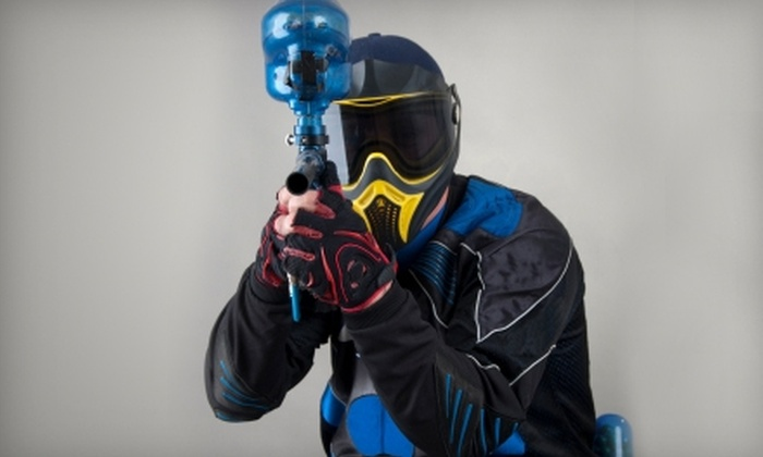 Splatball, Inc. - Hassan: $19 for Entry, Gun, Compressed Air, Goggles Rental, and 200 Paintballs at Splatball, Inc. in Rogers ($38 Value)