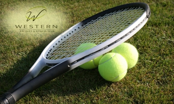 Western Racquet & Fitness Club - Ashwaubenon: $62 for Two Private Tennis Lessons at Western Racquet & Fitness Club