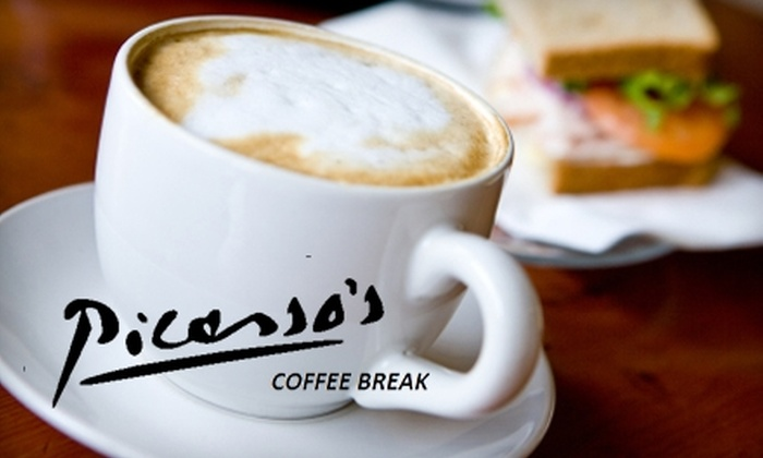 Picasso's Coffee Break - Rutland: $5 for $10 Worth of Coffee and Café Fare at Picasso's Coffee Break