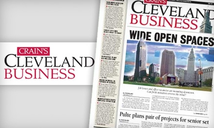 "Crain's Cleveland Business - Cleveland: $28 for a One-Year Subscription to ""Crain's Cleveland Business"" ($57 Value)"