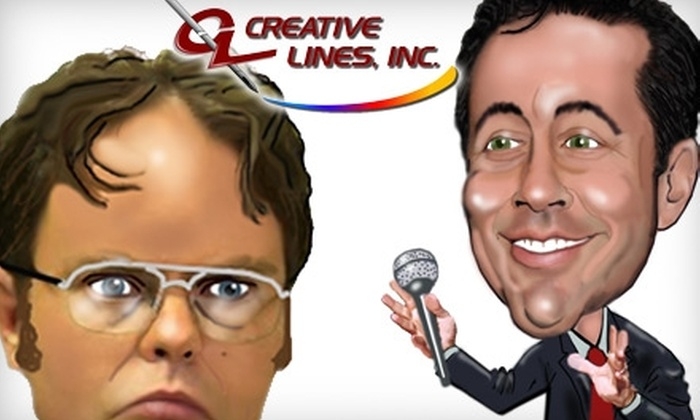 Creative Lines: $40 for a Personalized Caricature from Creative Lines ($80 Value)