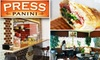 Press Panini - CLOSED - Studio City: $7 for $15 Worth of Eclectic Paninis at Press Panini