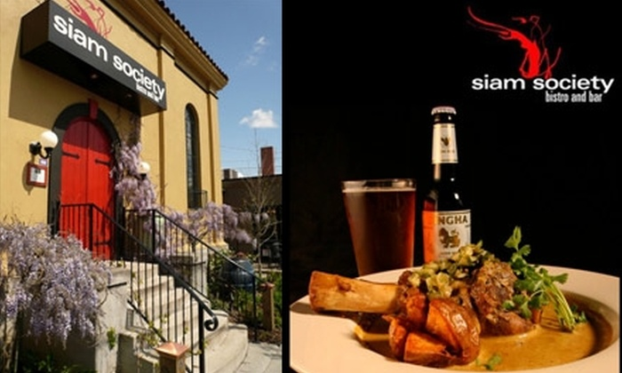 Siam Society - Concordia: $15 for $35 Worth of Thai and World Cuisine at Siam Society