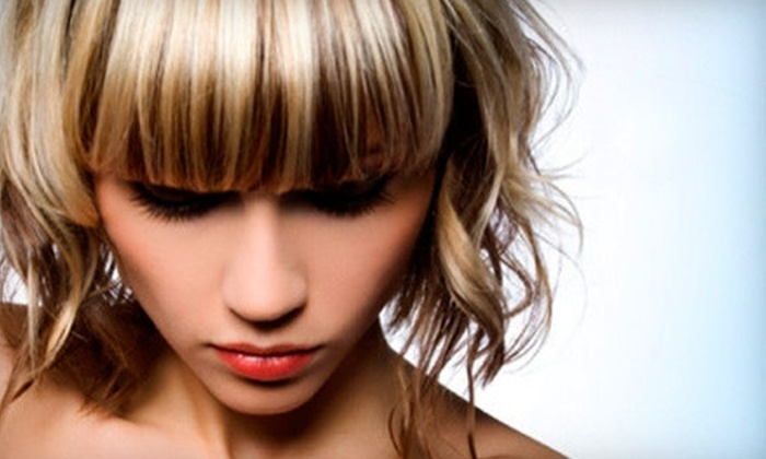 Allure De Vie Salon & Day Spa - Norwood Park: Moroccanoil Hair-Therapy-and-Styling Packages at Allure De Vie Salon & Day Spa (Up to 71% Off). Color and Highlights Options Available.