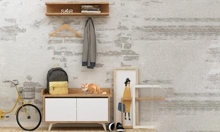 Conjunto de muebles para la entrada groupon for Gabinete de zapatos para la entrada