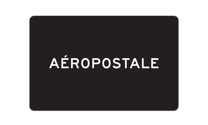 11b00b2b6b8bfb  25 eGift Card to Aeropostale - Aeropostale