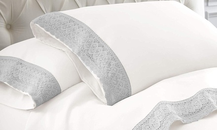 From $22 for a 1500TC Crochet-Lace Microfibre Sheet Set (Don't Pay up to $119)