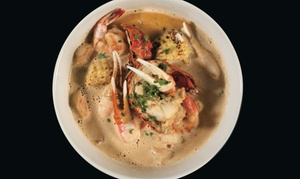 Killer Shrimp: Seafood, Steaks, and Specialty Drinks at Killer Shrimp (Up to 40% Off). Two Options Available.