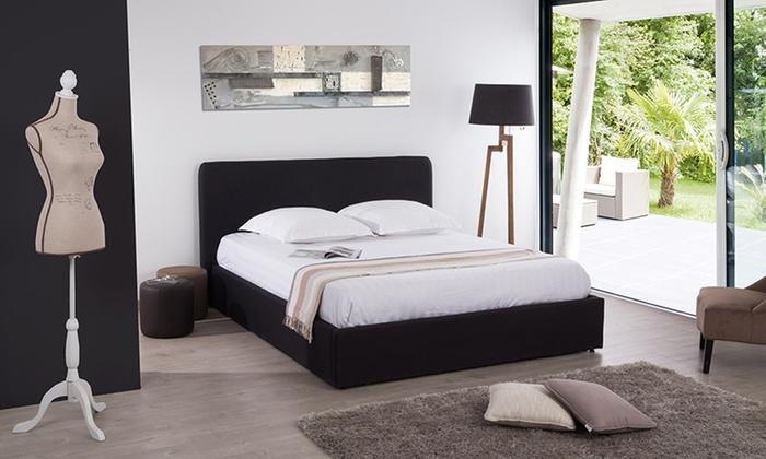 lit coffre henkel en tissu groupon shopping. Black Bedroom Furniture Sets. Home Design Ideas