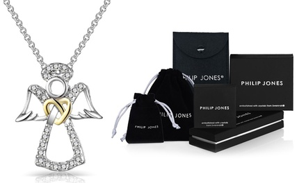 One or Two Philip Jones Guardian Angel Necklaces with Crystals from Swarovski®