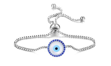 'Evil Eye' armbanden van het merk Philip Jones, versierd met kristallen van Swarovski