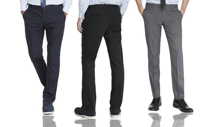 Elie Balleh Italy Milano Men's Slim-Fit Dress Pants