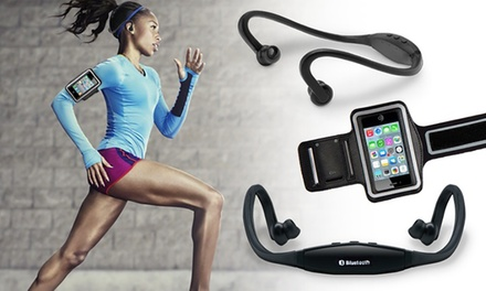 Sports Bluetooth Headset and Armband Set from AED 49 (Up to 70% Off)