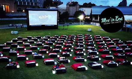 $69 for Open-Air Cinema Ticket with Bed Hire and Sparkling Wine for Two People at Mov'In Bed (Up to $106.60 Value)