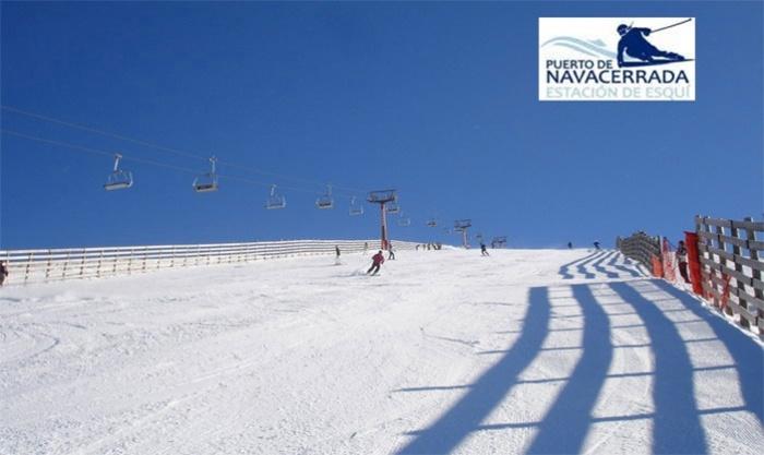 Forfait para niño o adulto con opción a alquiler de equipo de esquí desde 15,99 € en Puerto Navacerrada