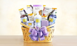 Luxurious Lavender Retreat Spa Gift Basket by California Delicious