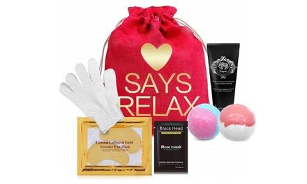Love Bath Bombs and Masks Set