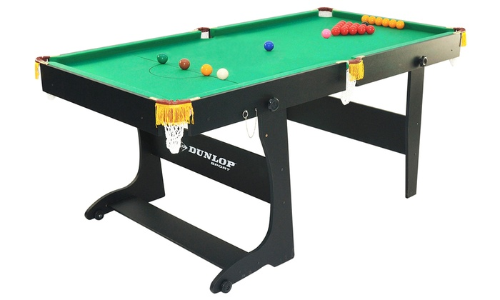 Dunlop snooker and pool table groupon for 12 in 1 game table groupon