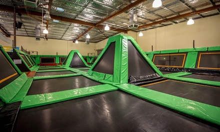 TwoHour Trampoline Entry for One $15 or Two People $25 or a Family $45 at Aerial Fun Trampoline World