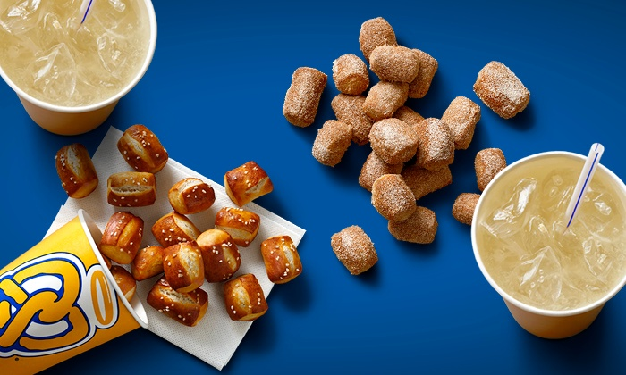Pretzel Nuggets and Lemonade for Two, or One Bucket of Pretzel Nuggets at Auntie Anne's (Up to 48% Off)