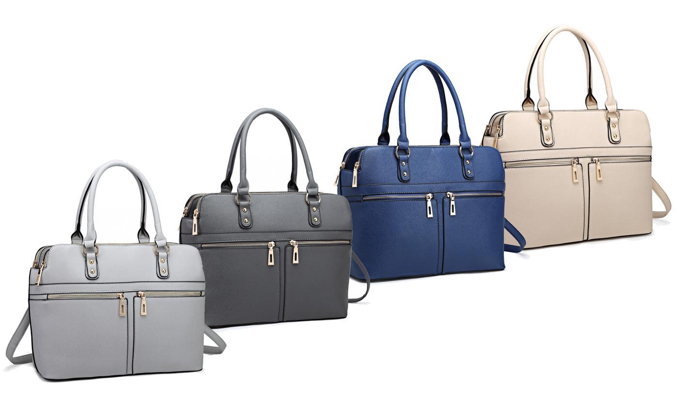 Miss Lulu Multi-Compartment Handbag