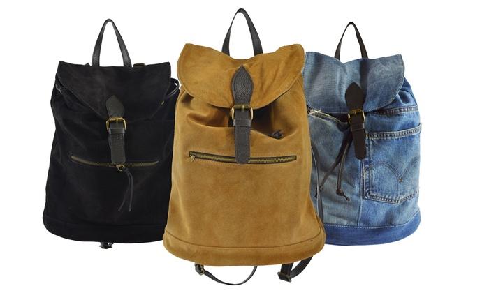wildleder rucksack