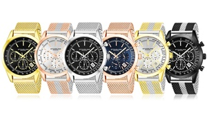 Stuhrling Men's Chronograph Watch with Mesh Band
